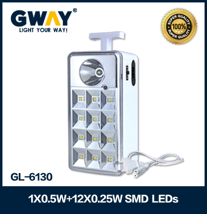 HI-Power 5050SMD led rechargeable emergency light ABS plastic housing led lanterns for camping