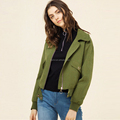 Top quality OEM casual design front zipper bomber latest jacket designs for women