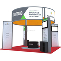 Detian Offer 20 by 20 trade show booth exhibition stand portable design from shanghai