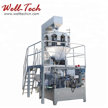 Automatically Finish the Whole Process from Bag Open Filling Weighing and Sealing Rotary Premade Bag Packaging Machine