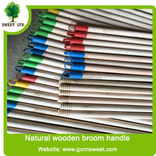 Natural wood floor mop stick /wood handle for brush with cap