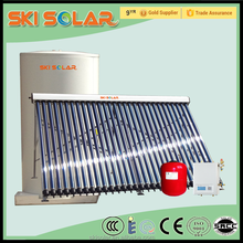 coiling copper finned solar water heater