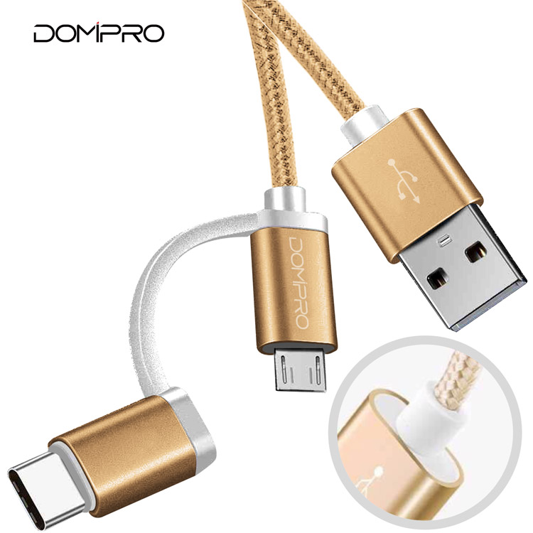 new mini Original Safety 2.4A OTG usb 3.0 <strong>c</strong> to type <strong>c</strong> data cable charger fast 2 in 1 mobile phone usb cable charge