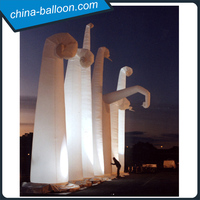 giant inflatable LED cone/inflatable decorative triangle pillars with LED light for weddings