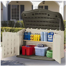 HDPE Material Durable Outdoor Garden Plastic Tool Storage Shed