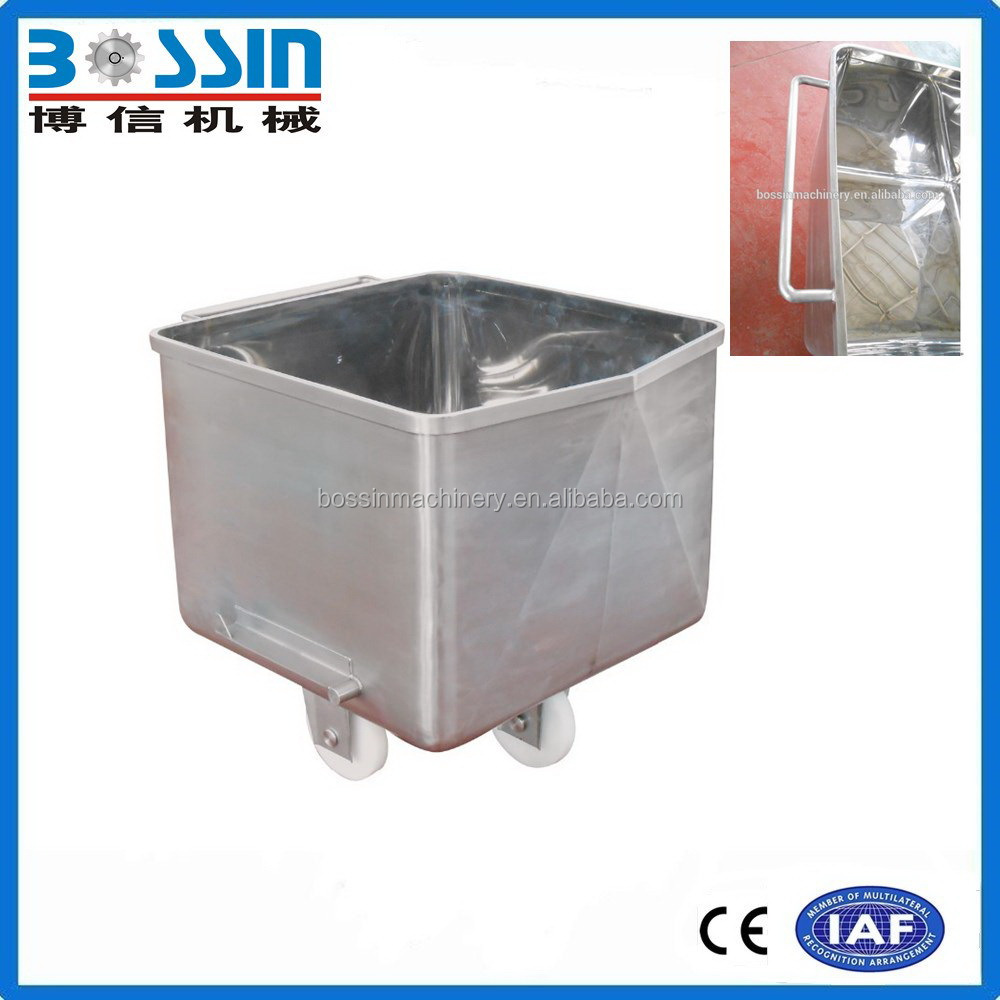 Durable widely used hot sale hopper trolley/meat buggy/meat bin