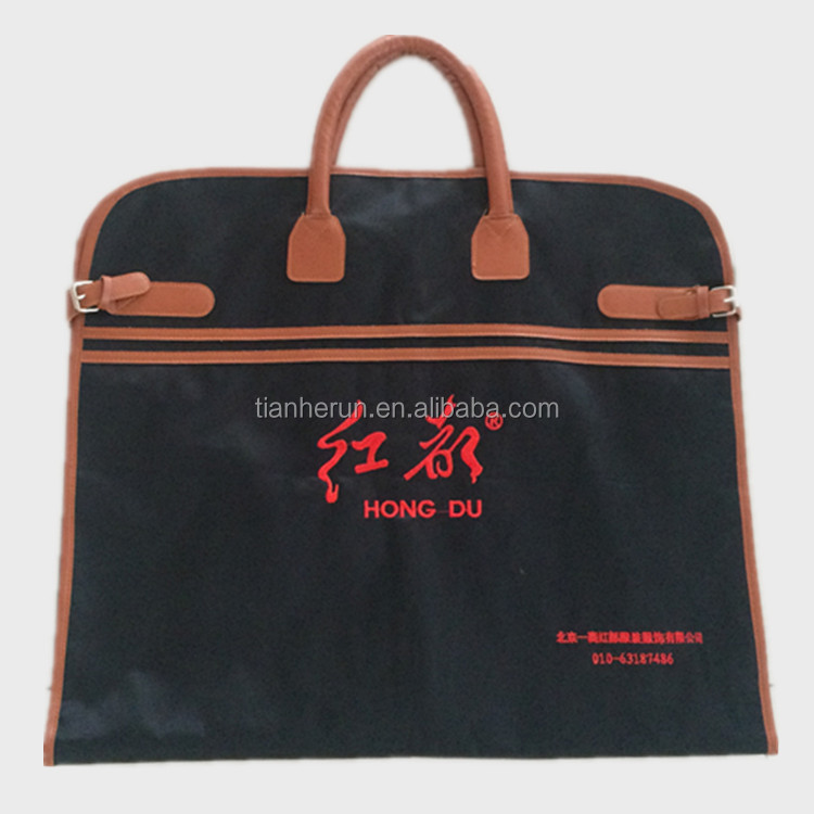 The luxurious embroidery custom luggage cover men garment bags