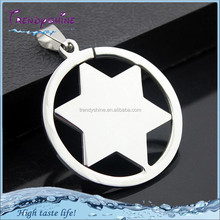 Unisex cheap factory price star shape necklace clip pendant