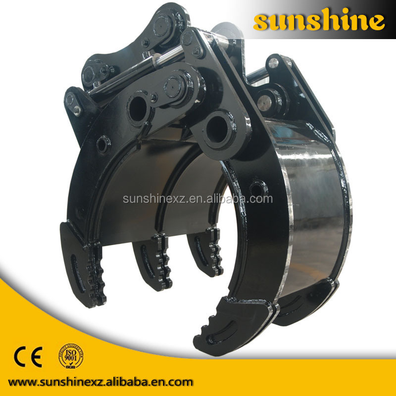 china suppliers hyundai parts hydraulic excavator rotating grapple