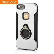 Guangzhou Wholesale tpu metal rotate 360 degrees ring mobile phone case for iphone 7