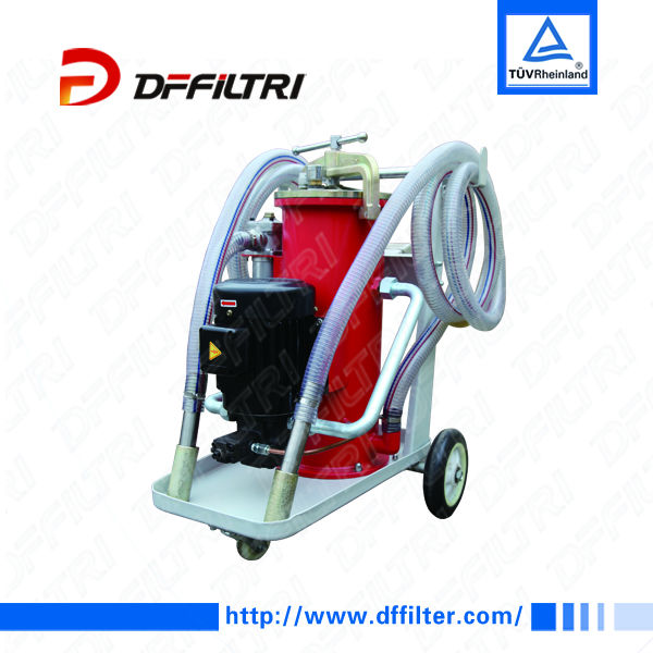 LYJ-40 Portable Hydraulic Multi Stage Filtration Off-line Filter Trolley-Includes Wands, Cart & Hoses