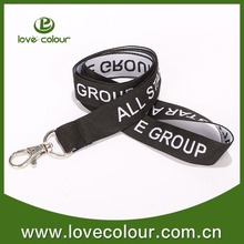 One time use polyester custom fabric lanyard strap for event