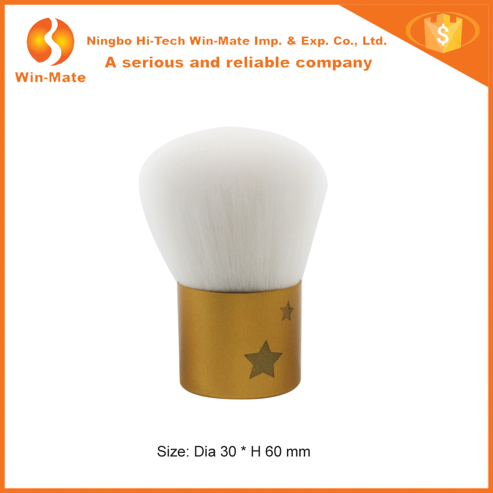 You can not miss 2015 mini white goat hair and golden ferrule kabuki brush wholesale