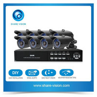 multi star cctv camera kit, oem factory 8ch weatherproof dvr kit