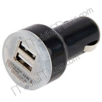 Mini 2.1A/1A 2 USB Ports Car Charger, for iphone 5 car charger