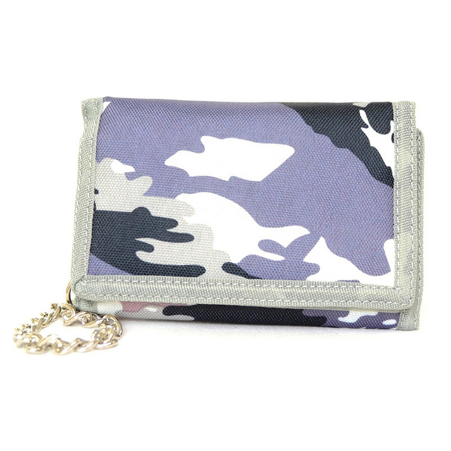 Top sale printed camo purse sublimation wallet small kids nylon wallet