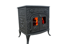 Big stove for family use, wood bunring type, metal sheet stove double doors