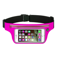 Waterproof Mobile Phone Running Waist Bag withTransparent Windows