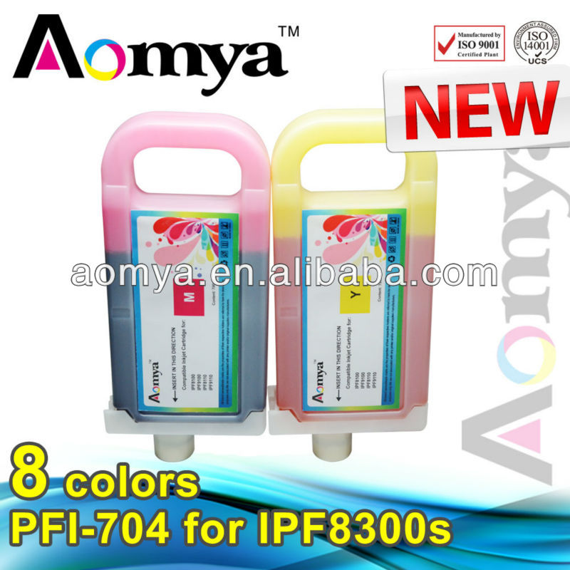 Factory supply Compatible ink cartridge pfi-704 for canon IPF8300 with ink and USA chip