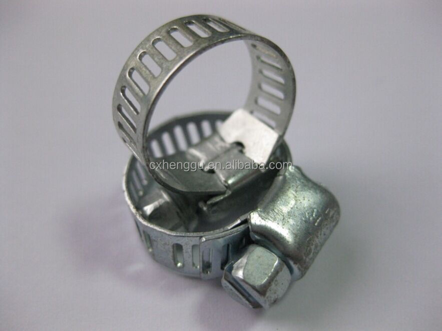 Hose clamp Taiwan SY Hard material hose clamp zinc plated hose clamp made in China