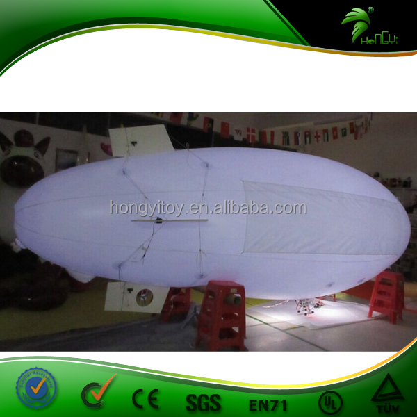 Outdoor Advertising Inflatable Remote Control Blimp / Inflatable RC Zeppelin Model / RC Airship 5M Blimp