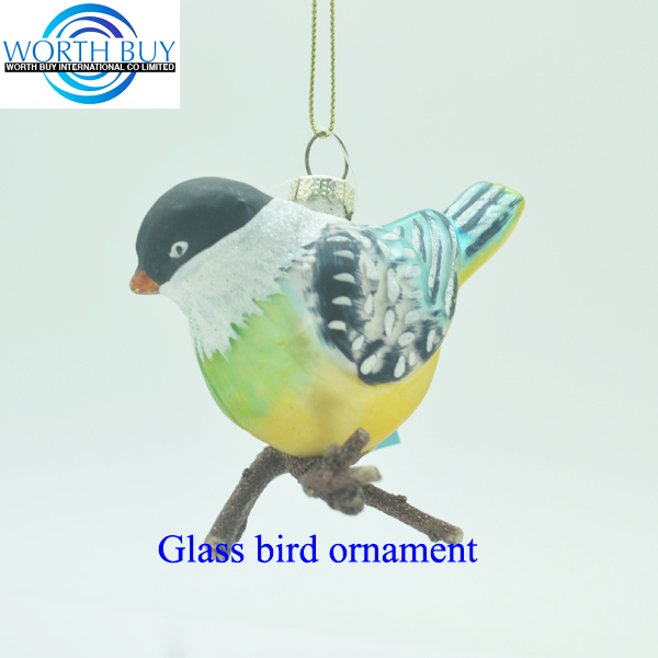 Artificial rice bird christmas tree ornaments bird from Shenzhen supplier