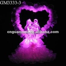 Wholesale hademade valentine gift/wedding souvenirs with LED light