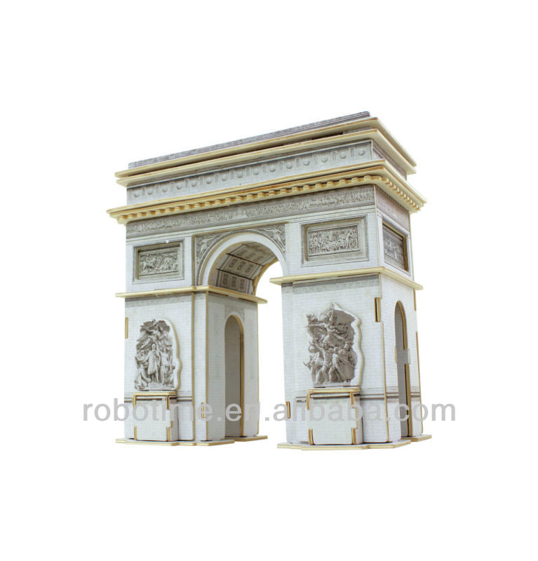 World Famous building 3D wooden puzzle model - Triumphal Arch puzzle