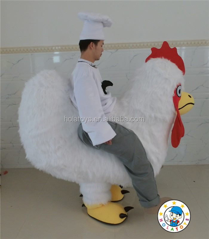 Hola custom chicken mascot costume for sale/riding chicken costume