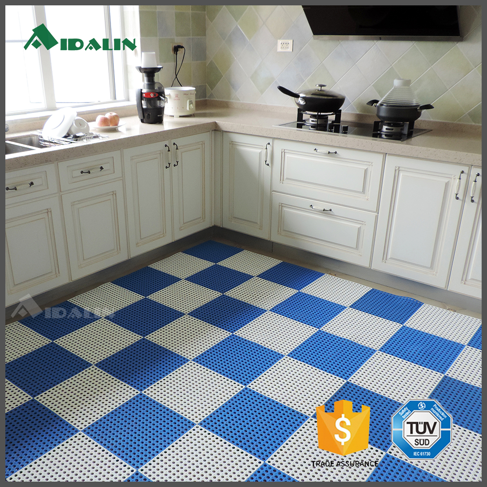 Durable angled rubber anti fatigue kitchen mat