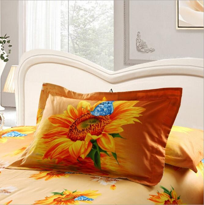 big flower design 3d printed cotton home bed textile fabric