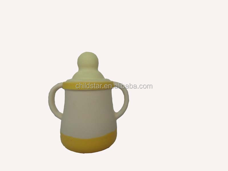 Mini milk shaped Yellow safty natural rubber squeaking Bath Spout Cover