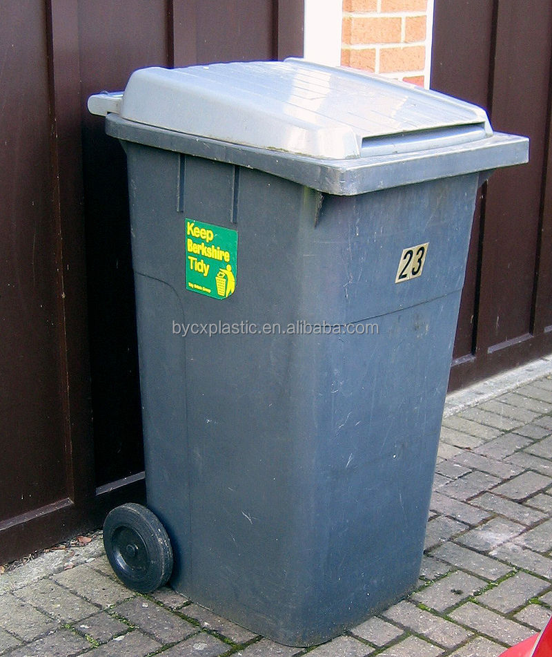 City curbside Grey waste containers /bins with cheap price