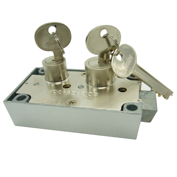 Combination Deposit key Lock Two Keys Safe Deposit Locks 6458 for bank