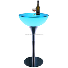 Modern Bar Nightclub Furniture Led Liquid Bar Table /Party Led Light Cocktail Table/Led Lighting Round High Table