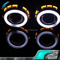 35w 2.5inch H4 dual color angel eyes H1 aes h7 hid bi xenon hid projector lens light
