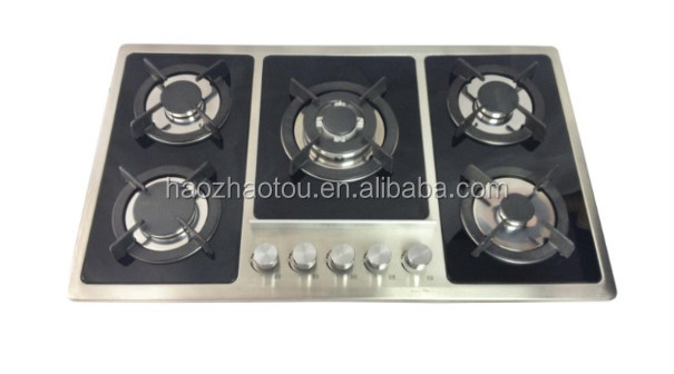 Battery / AC pulse ignition,high power sabaf burner 5 gas burner/gas stove/gas cooker