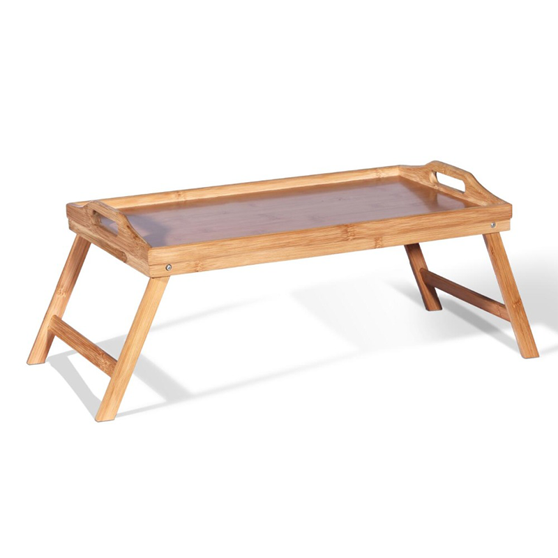 waterproof foldable bamboo breakfast dinner serving bed table tray