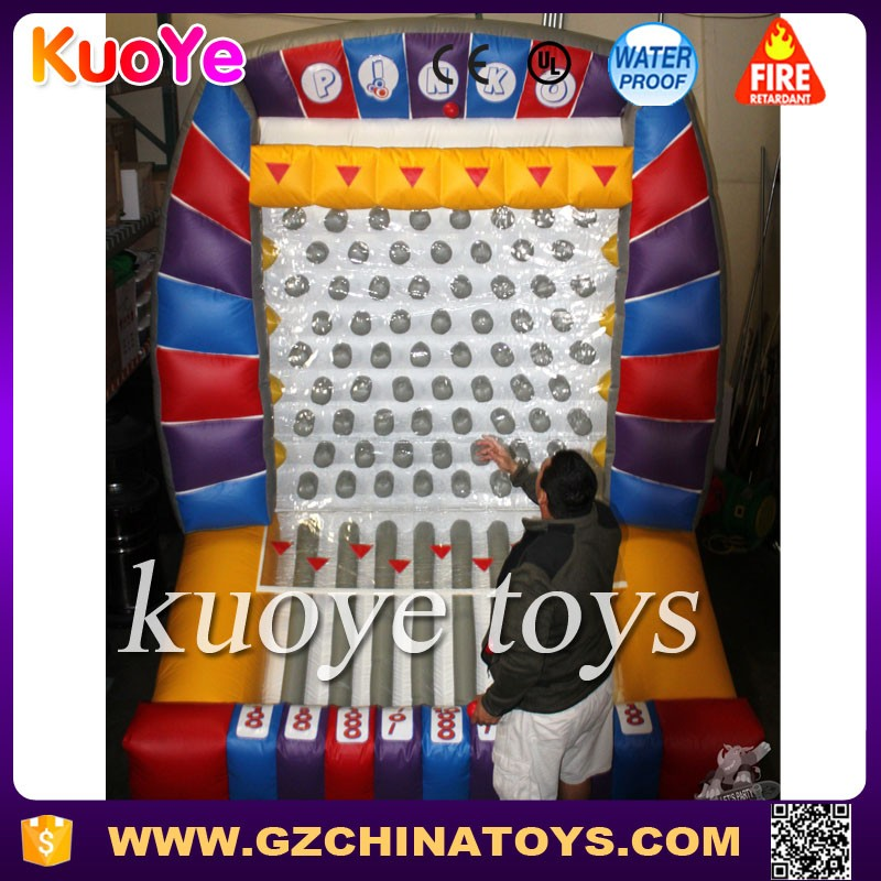 giant inflatable plinko game