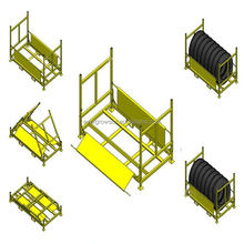 Suspended Folding Stacking Roll Racks/Fabric Rack/Plastic Film Storage Rack