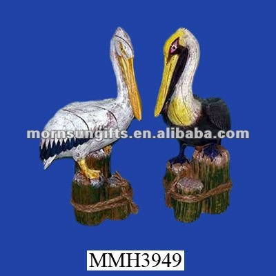 Ornamental exotic resin pelican