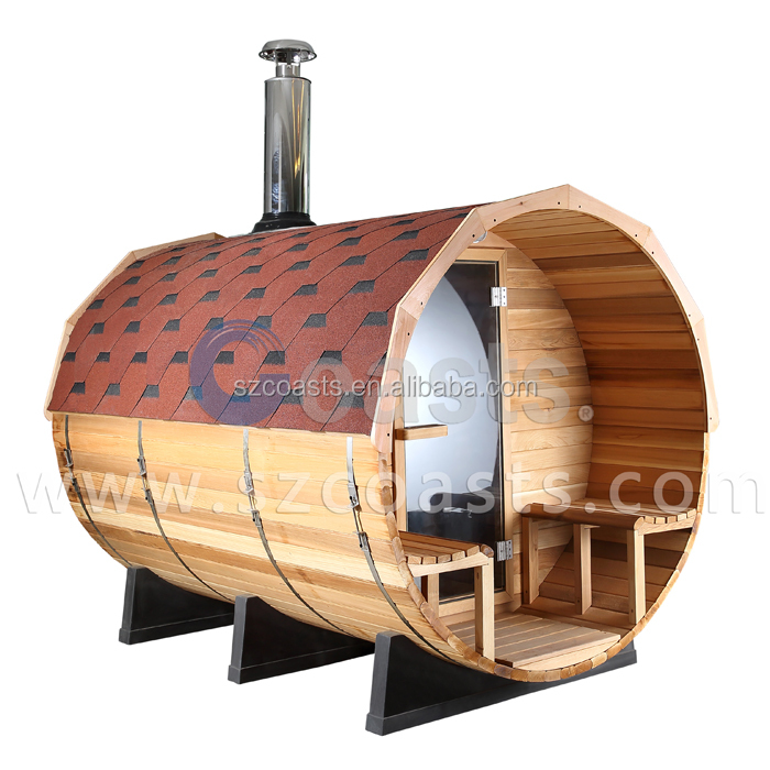 Hot Sale great sauna house cedar barrel sauna and steam combined room