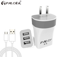 For Iphone and Samsung Use 5V 3.4A 3 in 1 3 port Triple multi usb travel charger adapter