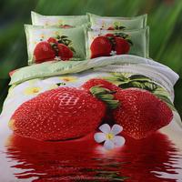Cheap 100% polyester bedding set exporter king size sheet bedding set flower design 3d bed sheets BS38