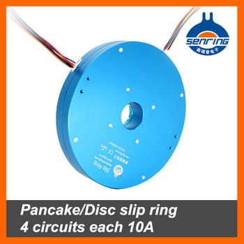 Pancake/Disc slip ring 4 circuits each 10A hole size 25.4mm