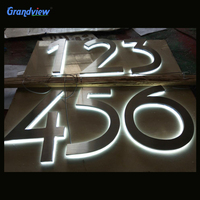 wall mouted outdoor led channel stainless steel letter sign for hot sale