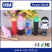 2016 Promotional gift OEM portable power bank , Mobile Power Bank support custom any shape 2200/2600/3000mah power bank