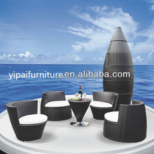 amazing bullet shape furniture rattan table and chair YPS020