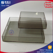 Professional design newest clear serving tray acrylic / PMMA tray tables / acrylic bed tray
