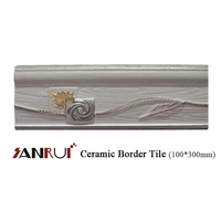 Interior decoration relief design glazed ceramic pencil border tile Pakistan tile price